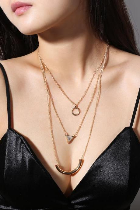 National Style Exaggerated Multi-layer Necklace