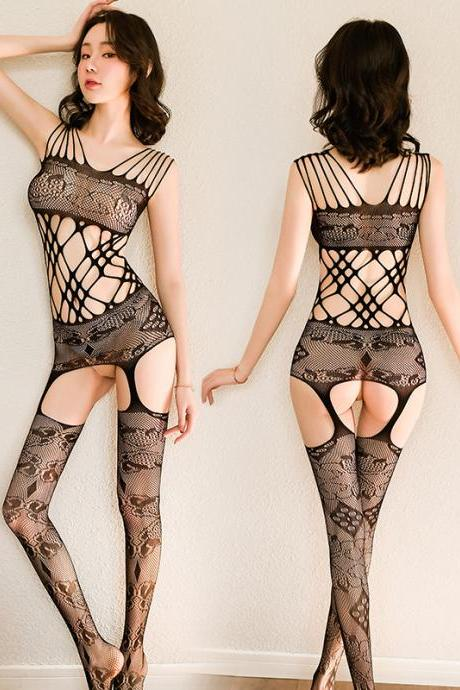 Sexy Fashion Hollowing out Lace Jumpsuit For Girl