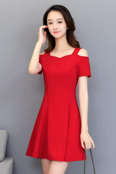 Sexy Off Shoulder Short Sleeve Party Dress