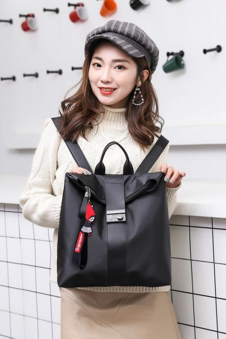 Women Fashion Double Shoulder And Portable Nylon Backpack