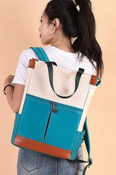Women Fashion Fashionable Oxford cloth Bucket Backpack
