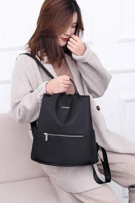 Women Fashionable Anti theft oxford Casual Backpack