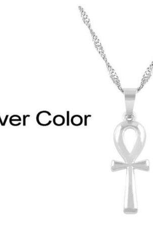 Free Shipping Metal Cross Pendant Necklace female clavicle Necklace-2