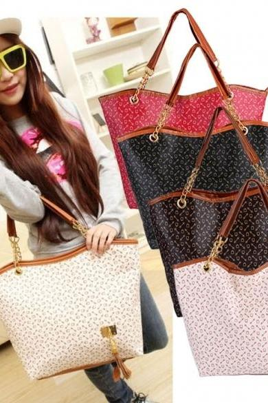 Hot Korean Lady Women Synthetic Leather Messenger Handbag Shoulder Bag Totes Purse