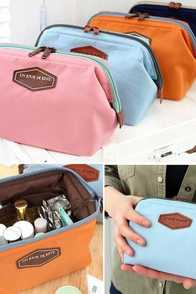 Women's Travel Makeup bag Cosmetic pouch Clutch Handbag Casual Purse