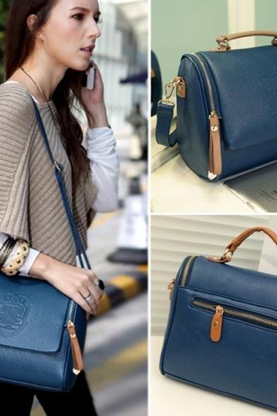 Women Handbag Cross Body Shoulder Bag Messenger Bag Tote Bag Blue