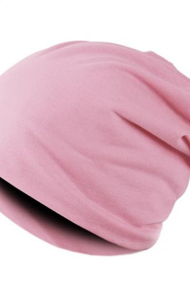 New Solid Color Unisex Hip-hop Cap Beanie Hat Winter Slouch 7 Colors One Size Elastic