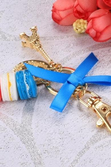 Hot Fashion Romantic Beautiful Women Bow Key Chains Rings Bag Charm Accessory Keychain