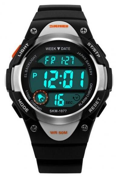 Kids Children Watch Waterproof Electronic LED Outdoor Sports Wrist Watch With Alarm, Calendar, Chronograph, Luminous