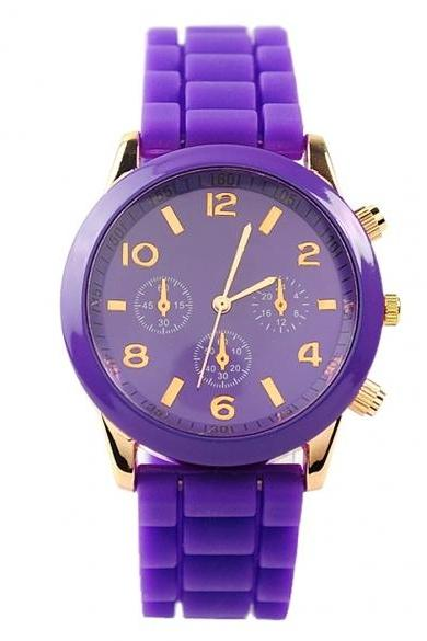 Ladies Brand Silicone Jelly Watch Quartz Watch