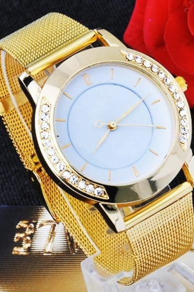 1 pcs Classic Watch Women's Wrist Quartz Dress Watch Gold