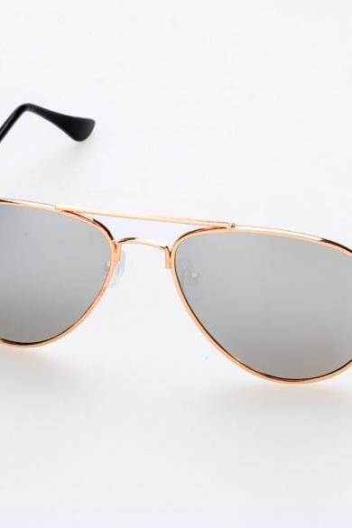 Gold Framed Double Bridge Aviators