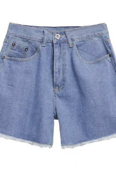 Women New Fashion Summer High Waist Denim Shorts Retro Casual Jeans Plus Size Shorts