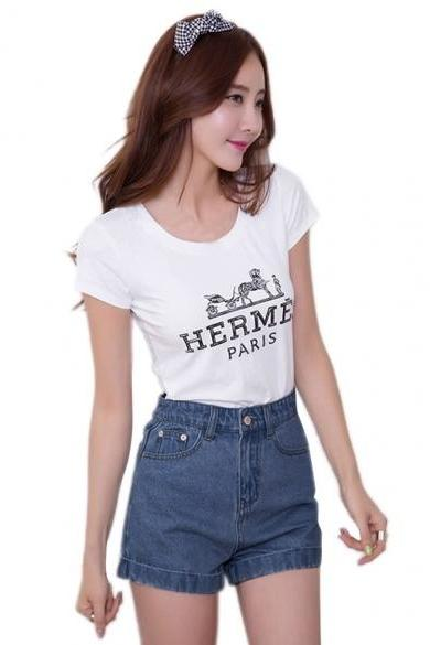 Korean Fashion Summer Casual Women Jeans Shorts High Waist Denim Shorts
