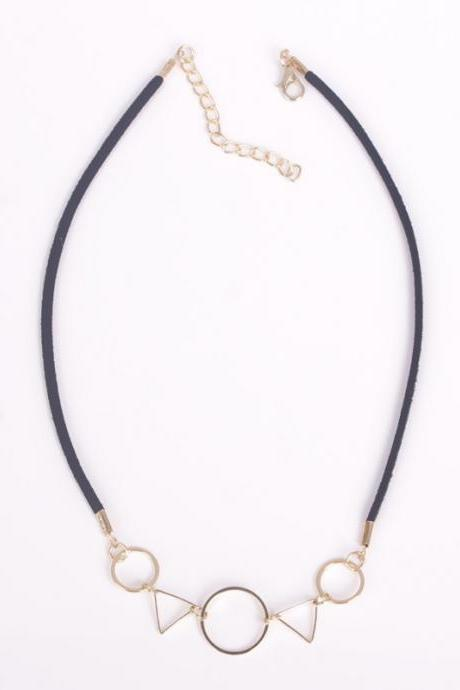 Geometric Figure Ladies' Short Necklace