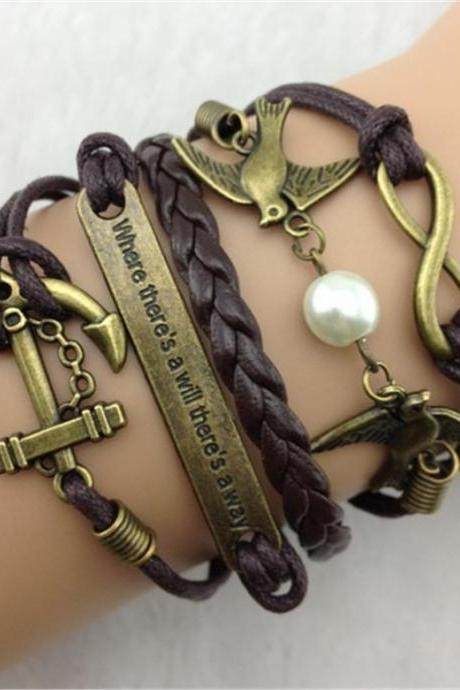 Romantic Dove Anchor Element Fashion Bracelets
