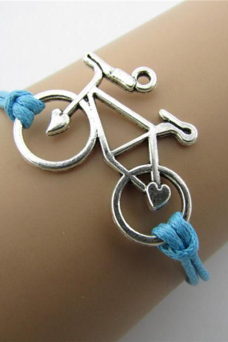 Fashion Simple Bicycle Leather Bracelet