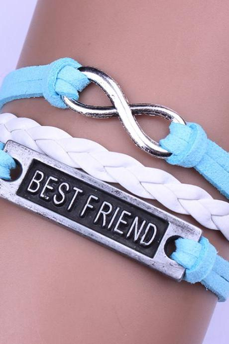 BESTFRIEND Leather Cord Woven Bracelet