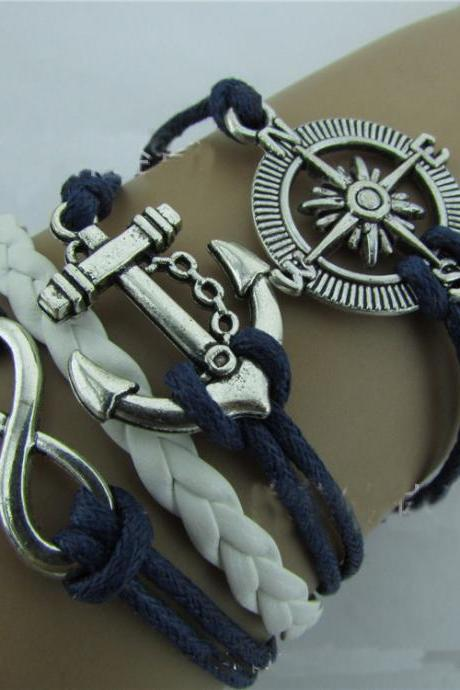 Compass Anchor Eight Handmade Woven Bracelet