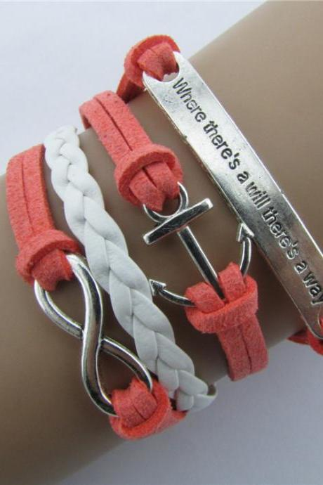 Anchor Rudder Eight Wax Fashion Friendship Bracelet