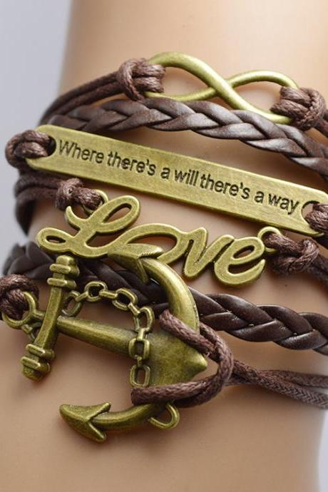Anchor Love Retro Multilayer Bracelet