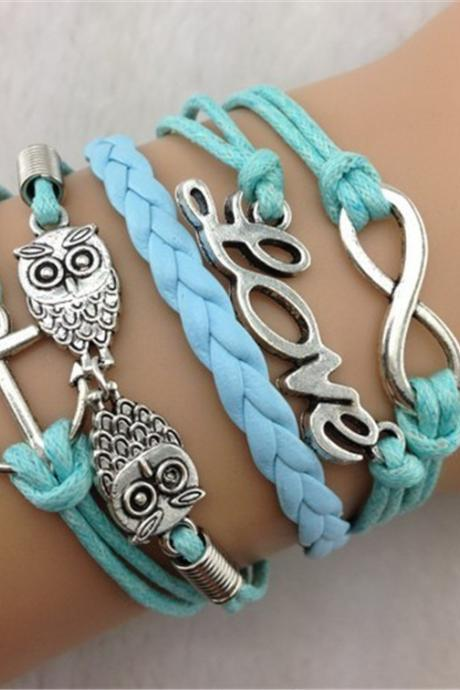 Owl LOVE Wax Fashion Bracelet