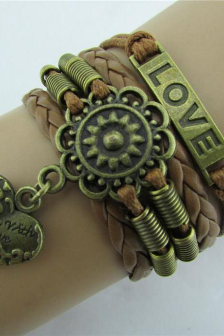 Love Heart Woven Friendship Bracelet