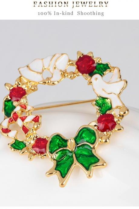 High-grade color garland Brooch