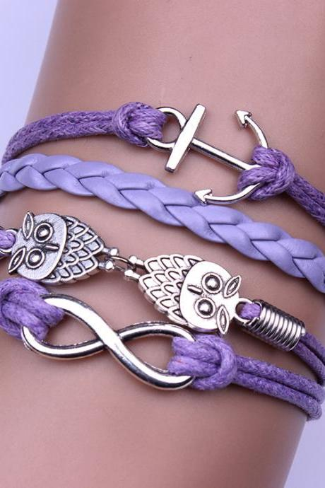 The Owl Boat Anchor Woven Bracelet