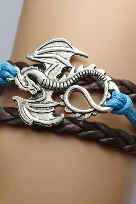 Personality Dragon Multilayer Woven Bracelet