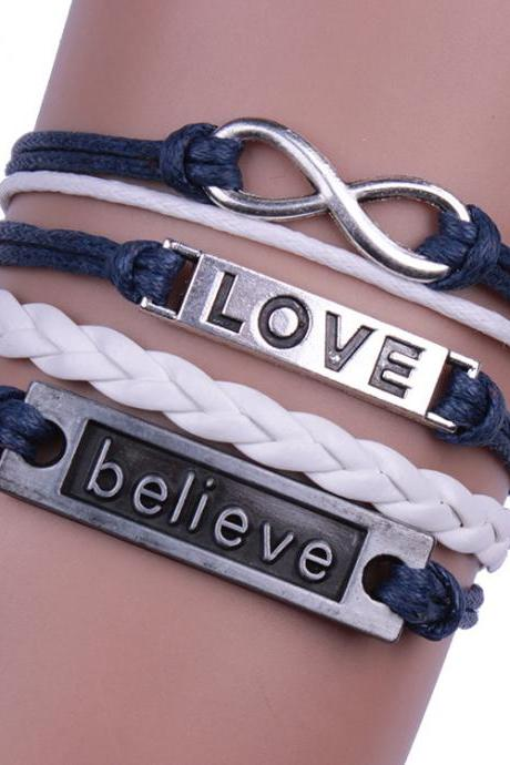 Multilayer Love Woven Bracelet