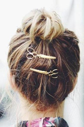 Unique Metal Scissors Women's HairPin