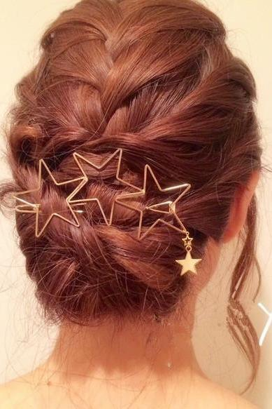 Beautiful Hollow Out Star Tassels Hairpin