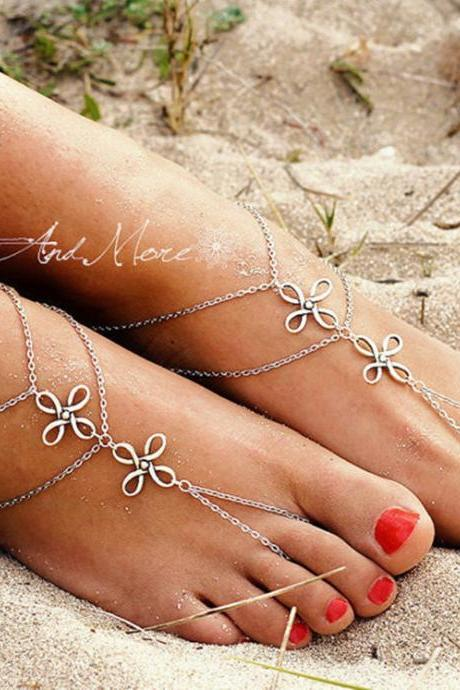 Chinese Knot Multilayer Anklet