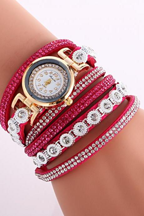 Fashion Crystal Strap Bracelet Watch