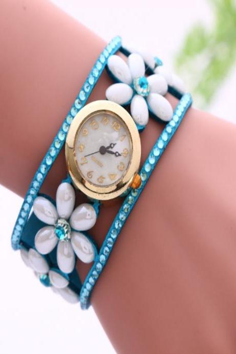 Flower Pearl Bracelet Watch