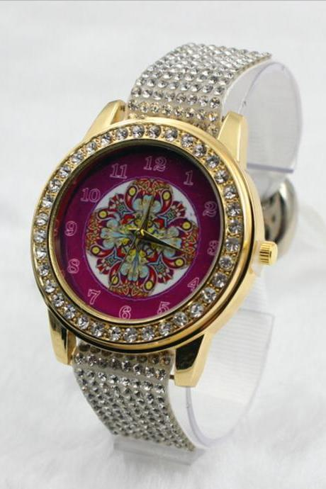 Crystal Print Colorful Watch