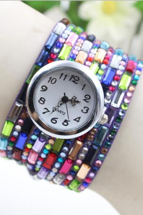 Colourful Chain Korea Fashion Bracelets Watch