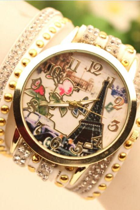 Fashion Car Tower Beautiful Watch