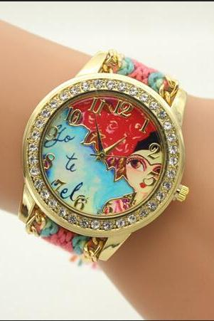Rose Hair Beauty Woven Watch