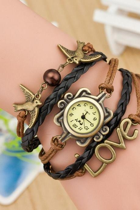 Dove Multilayer Woven Bracelet Watch