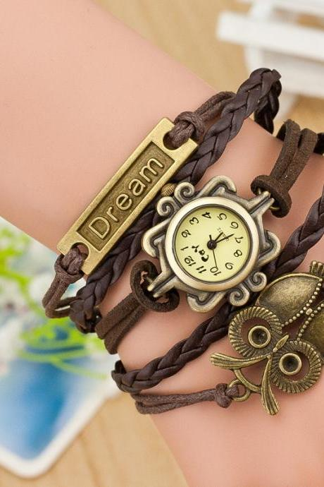 Korea Style Multilayer Woven Bracelet Watch