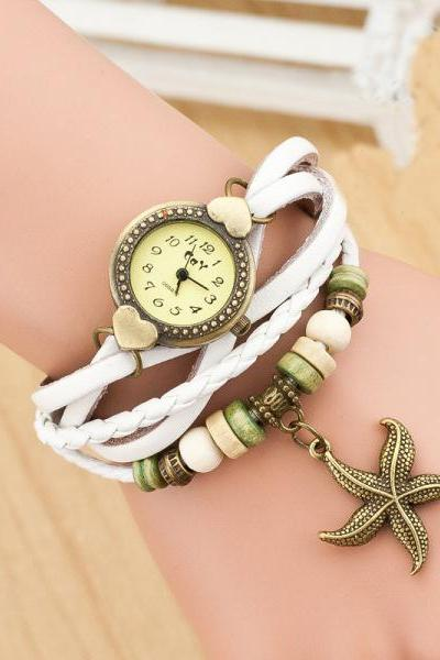 Love Starfish Bracelet Watch