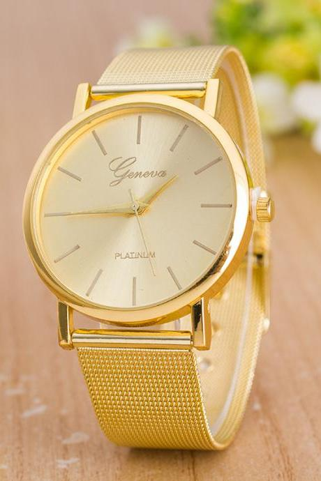 Classic Mesh Alloy Strap Fashion Watch