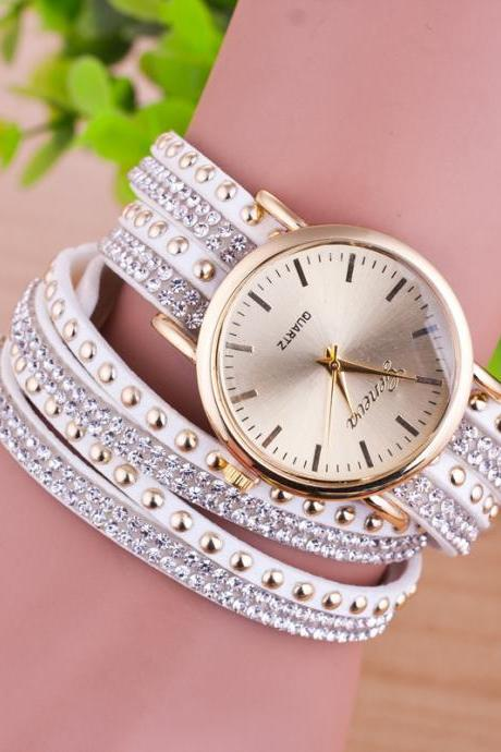 Personality Rivet Strap Bracelet Watch