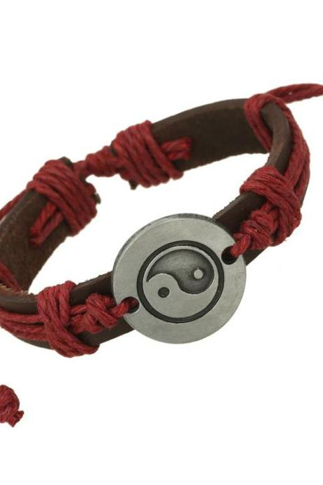 Unique Eight Diagrams Leather Bracelet
