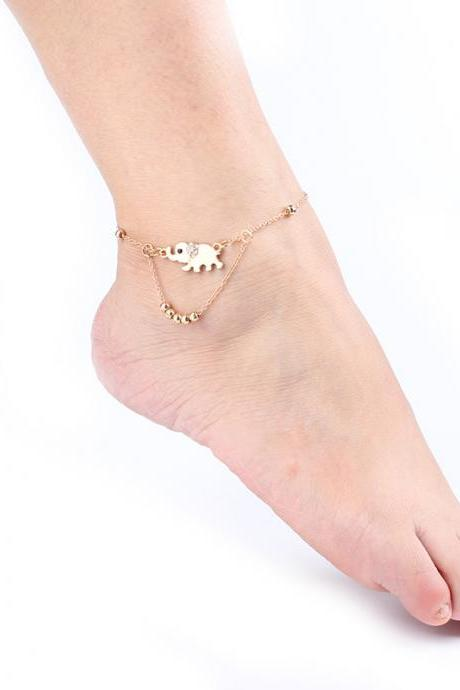 Beautiful Elephant Beads Anklet
