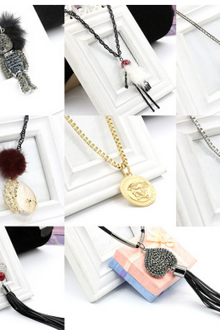 New leaf hair ball love thin chain necklace