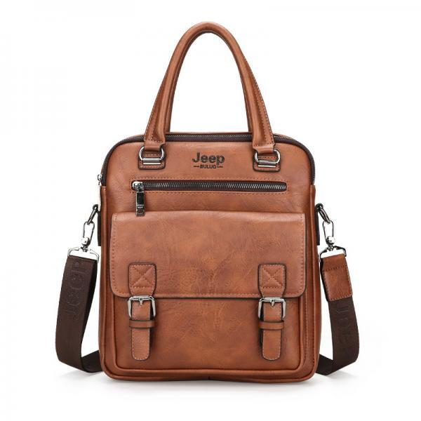 Fashion Multi Pocket Briefcase Men's Handbag