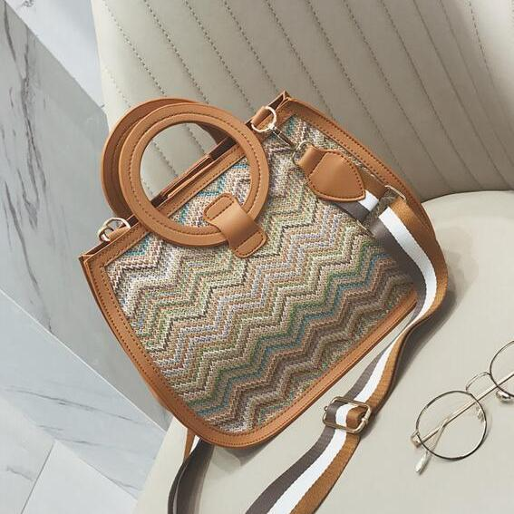 Fashion Circular Ring Knitted Design Satchel